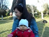 Luciano en el parque Pedro de Valdivia