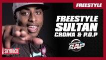 Gros Freestyle de Sultan, Croma & P.O.P dans Planète Rap !
