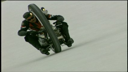 See the amazing One Wheeled Motorcycle go for the record