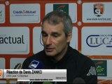 (J33) Laval 1-2 Sochaux, réaction de D. Zanko
