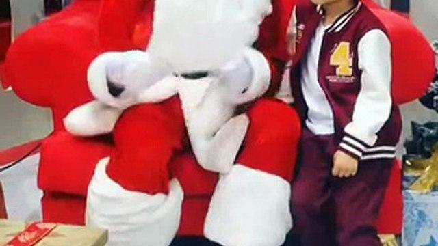 Yousef with Santa @Hamleys Mirdif City Centre 25Dec2014
