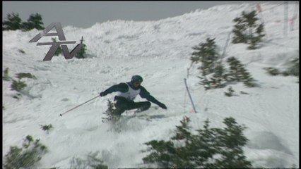 Telemark Skiing is tough enough when you take the right line....