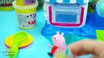 Peppa Pig Cuisine Gâteau Pâte à Modeler pour ses Amis   Peppa Pig Play Doh Cake
