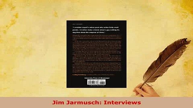Download  Jim Jarmusch Interviews Read Online