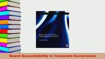 Read  Board Accountability in Corporate Governance Ebook Free