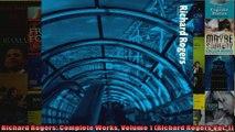Read  Richard Rogers Complete Works Volume 1 Richard Rogers Vol 1  Full EBook