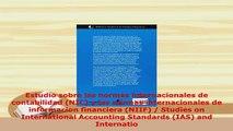 PDF  Estudio sobre las normas internacionales de contabilidad NIC y las normas Download Online