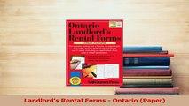Download  Landlords Rental Forms  Ontario Paper Ebook Free