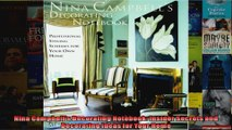 Download  Nina Campbells Decorating Notebook Insider Secrets and Decorating Ideas for Your Home Full EBook Free