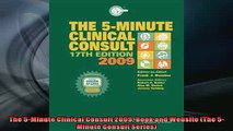 FREE DOWNLOAD  The 5Minute Clinical Consult 2009 Book and Website The 5Minute Consult Series  BOOK ONLINE