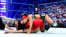 AJ Lee (w/ Daniel Bryan) vs. Brie Bella (w/ Nikki Bella)