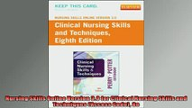 READ book  Nursing Skills Online Version 30 for Clinical Nursing Skills and Techniques Access Code  FREE BOOOK ONLINE
