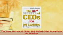 PDF  The New Secrets of CEOs 200 Global Chief Executives on Leading Download Online