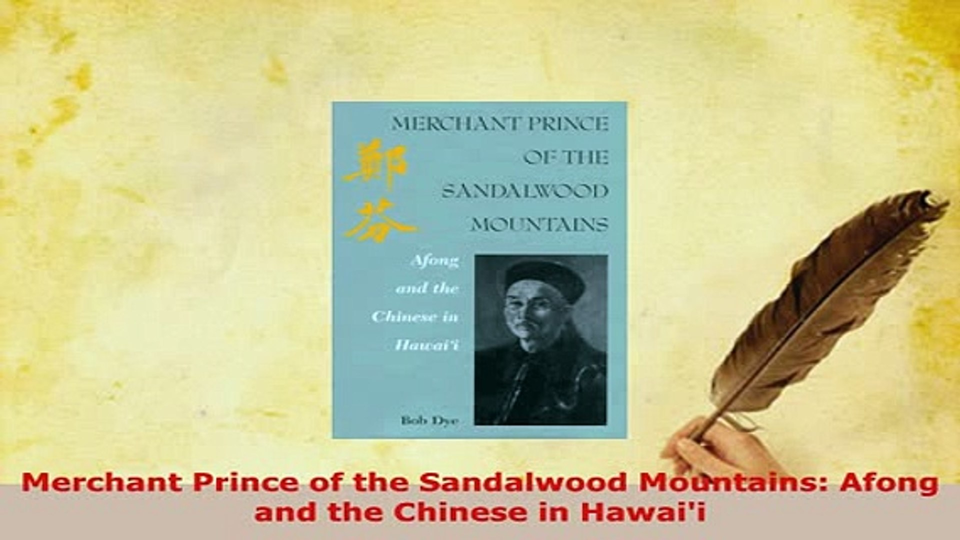 PDF Merchant Prince of the Sandalwood Mountains Afong and