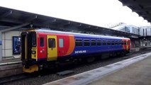 British Trainspotting - East Midlands Trains Class 153 Leaving Derby