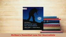 Download  McNaes Essential Law for Journalists PDF Online