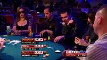 Alec Torelli pushes flush draw against trips of Jennifer Tilly in big cash game pot