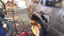 Enflammer son pneu pour le changer ?!?