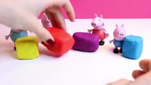Peppa Pig Christmas Presents Gifts Play Doh Surprise Eggs Regalos de Navidad de Peppa Pig Part 2
