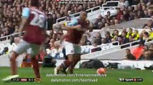 Mesut Ozil Horror Foul On Dimitri Payet West Ham 0-1 Arsenal