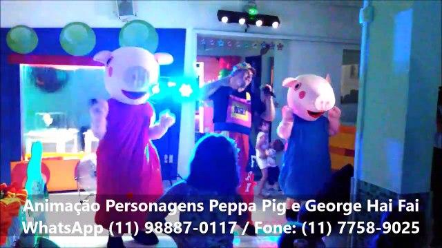 Peppa Pig e George Hai Fai Eventos Lojas Escolas Shopping