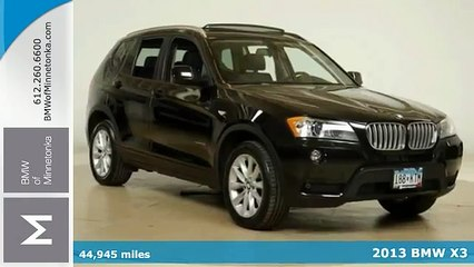 Used 2013 BMW X3 Minnetonka MN Minneapolis, MN #P36439 - SOLD