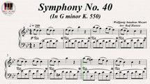 Symphony No. 40 In G minor KV. 550 - Wolfgang Amadeus Mozart, Piano