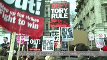 Mass protest in London calls for Cameron to resign