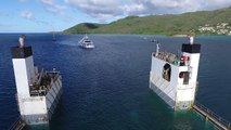 Great aerial Footage of DYT vessel Super Servant 4's float-on yacht transport method in Martinique!