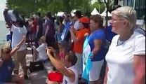 Guatemaltecos apoyan a Jason Hess e Irene Abascal, ganadores de la medalla de oro