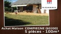 A vendre - maison -  COMPIEGNE (60200) - 5 pièces - 100m²