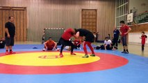 Double Leg Teakdown and other Attack Technique of Olympic Wrestling. Ringen und Grappling in Berlin