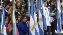 Posse tomó la promesa a la Bandera a una multitud de alumnos de San Isidro