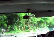 driving across bali