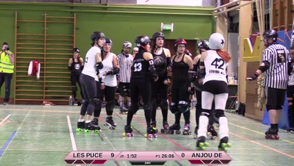 JAM DARK - HD -Les Puces'Hell vs Anjou Derby Girls 1ere mi-temps