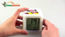 Mickey Mouse Pattern Glowing LED Color Change Digital Alarm Clock - dinodirect