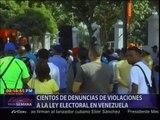 Cientos de denuncias de violaciones a la Ley Electoral en Venezuela