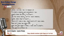 Just a Gigolo - Louis Prima Vocal Backing Track with chords and lyrics