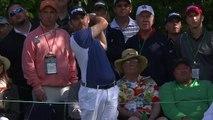 L'incroyable trou en 1 de Louis Oosthuizen en s'appuyant sur la balle de J.B. Holmes