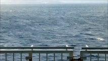 冬の日本海① 新日本海フェリー「フェリーあざれあ」秋田港出港後の船内放送