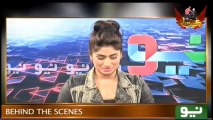 Hillarious Clip of Qandeel Baloch Behind the Scenes on Set of Ajeeb Sa