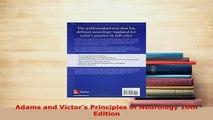 PDF  Adams and Victors Principles of Neurology 10th Edition  EBook