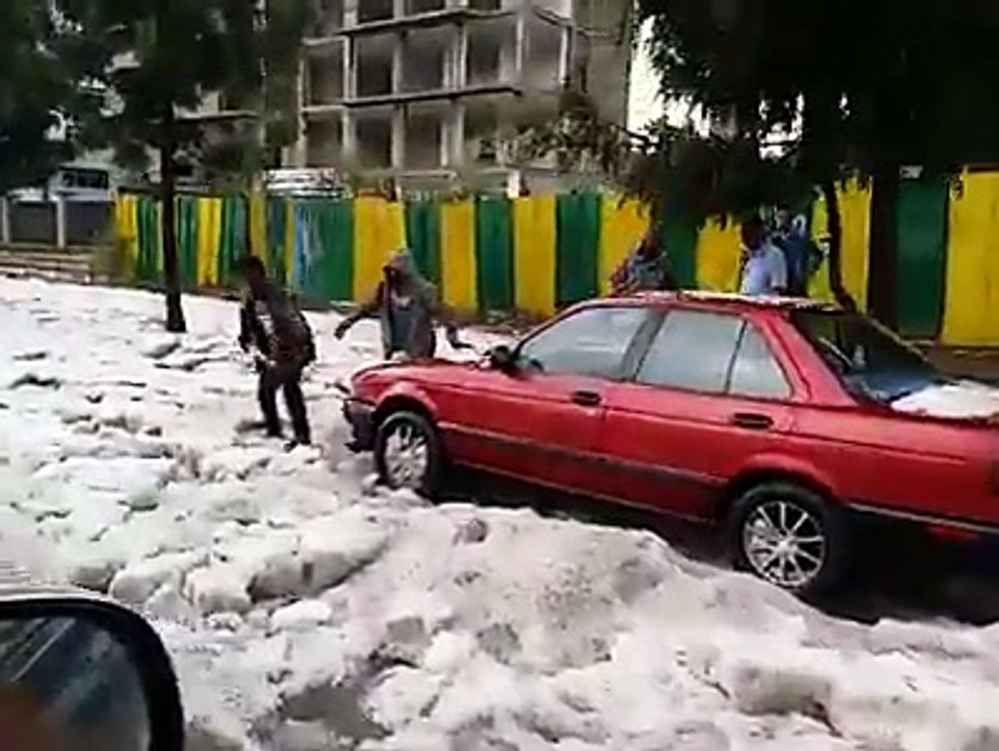Snow in Addis Ababa, Ethiopia