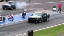 DRAG RACE Stage 3 ROUSH Mustang vs 67 Mustang 2014