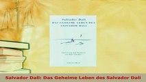 PDF  Salvador Dali Das Geheime Leben des Salvador Dali Read Full Ebook