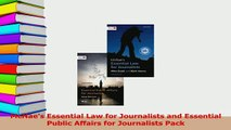 PDF  McNaes Essential Law for Journalists and Essential Public Affairs for Journalists Pack Download Full Ebook