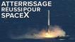 Le Falcon 9 de SpaceX se pose sur une barge en mer