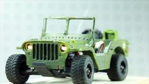 Micro Willys Jeep Body on an RC tiny 1/36 Scale Losi micro Desert Truck / T DT  M38