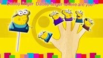 Minions Peppa Pig Lollipop Finger Family Nursery Rhymes\Mickey Mouse TV Lyrics