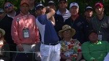 Incroyable trou en 1 de Louis Oosthuizen en s'appuyant sur la balle de J.B. Holmes - Golf Augusta